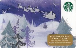 Starbucks 2016 Santa's Journey Collectible Gift Card New No Value - $4.99