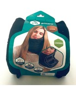 Trtl Travel Pillow Super Soft Neck Support Unisex Black Machine Washable... - $12.86