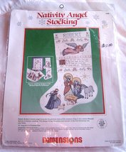 Dimensions Counted Cross Stitch Nativity Angel Stocking Pattern Kit 8386 New - $19.99