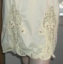 Mini 19 Inch Yellow Half Slip Detailed Lace Cut Work Small Carol Anne - $39.59