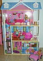 KidKraft My Dreamy Sturdy Wooden Doll House with car & 4 dolls - $116.28