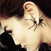 Women Halloween Black Spider Charm Ear Stud Earrings - One Pair image 5