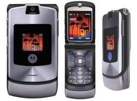 2018 ORIGINAL Motorola V3 Razr Gray 100% UNLOCKED 2G Mobile Phone WARRAN... - ₨2,683.20 INR