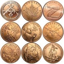 2017 1 oz .999 Pure Copper BU Round / Challenge Coin - 9 Designs To Choo... - $5.95
