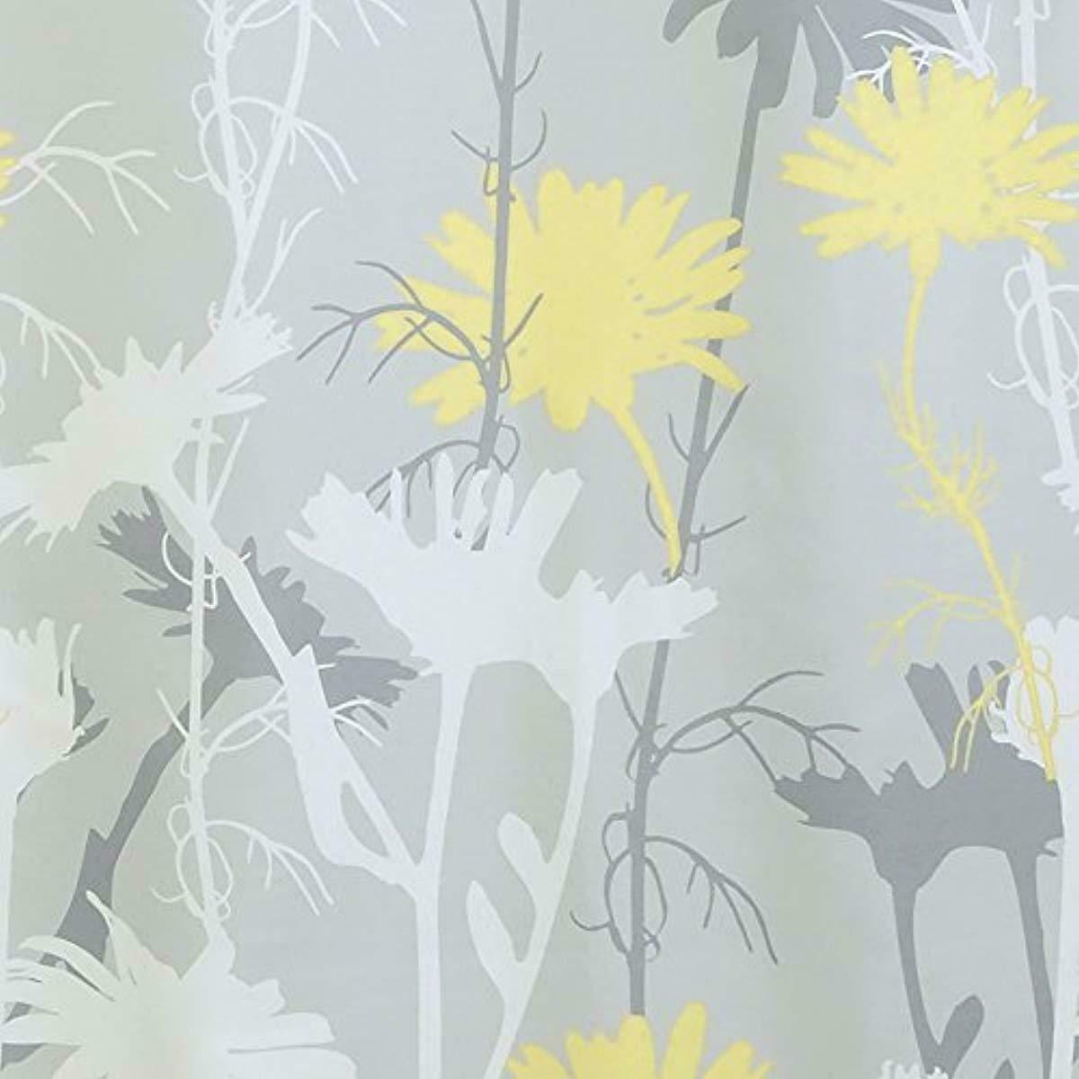Mustard Yellow Grey Daisy 180 x 180 cm Shower Curtain Waterproof Shower Screen  image 3