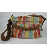 FOSSIL Crossbody Shoulder Bag Colorful PURSE Handbag w Key Original Brand - £18.65 GBP