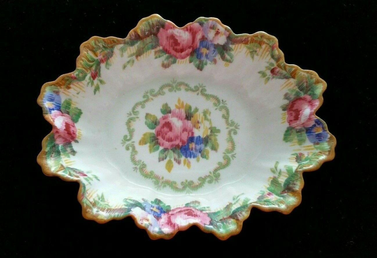 Paragon Tapestry Rose English Bone China Scalloped Trinket Dish/Nut Dish - $39.99