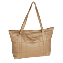 [Lasting Charm]Stylish Khaki Satchel Bag Handbag Purse - $24.00