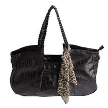 [Charm Beauty]Coffee Leatherette Shoulder Bag Satchel Bag  - $24.00