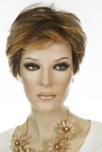 Nat Golden Brown & Med Red Gold Blond Highlt & Tip Short Lace Front Pixie Wigs - $374.30