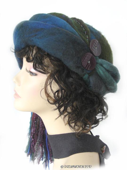 """Azure"" - Art for Your Head by DreamWoven - Handmade Art Hat"