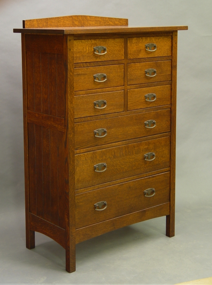 Mission drawer tall chest of drawers dressers