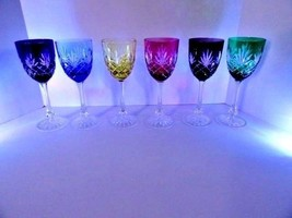 Faberge  Odessa  Crystal  Assorted Wine Glasses  set of 6 - $1,450.00