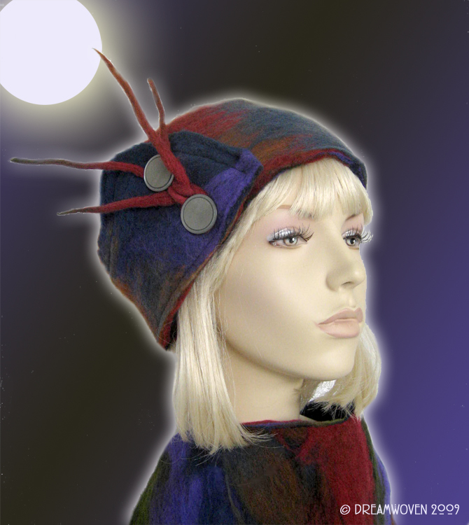 Artful Accessory by DreamWoven - HandFelted  Headwrap Hat