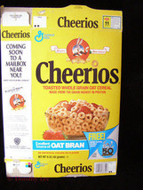 General Mills Cheerios Cereal Box Flat Looney Tunes Bugs Bunny 50th Birt... - $16.99