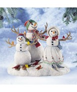NEW! Lenox Birds of a Feather Snowman Family Sculpture-Snow Kids-Lynn Bywaters - $76.13