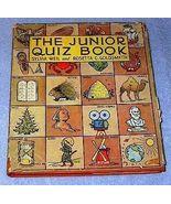 Platt & Munk 1942 The Junior Quiz Book Sylvia Weil - $9.95