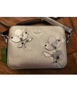 Kate Spade Camera Bag WKRU5880 Larchmont Ave Floral Applique Silver NWT - $108.90