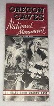 =Vintage Oregon Caves National Monument 1940's The River Styx Map Brochure  - $19.99