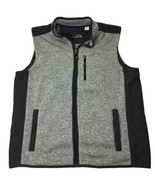 Orvis Mens Full Zip Sweater Fleece Vest Polyester Gray XL - $38.38