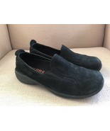 MERRELL PRIMO MOC BLACK NUBUCK LEATHER LOAFERS/SLIP ONS WOMEN SIZE 8 - $23.07