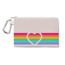 Rainbow Heart Canvas Zip Pouch - $14.99+