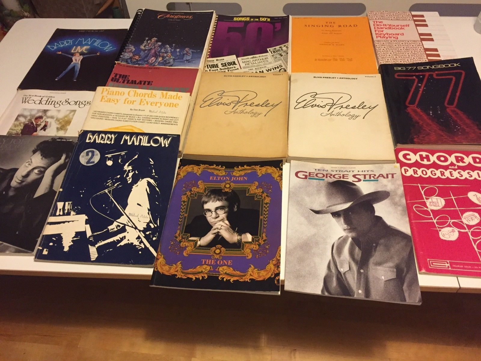 Lot-of-15-vintage-song-books