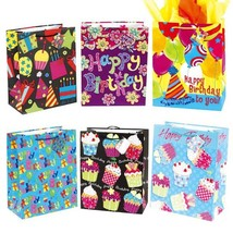 10 1/2W x 13H x 5 1/2G Large Party Time On Matte, 6 Designs, Case of 120 - $185.29