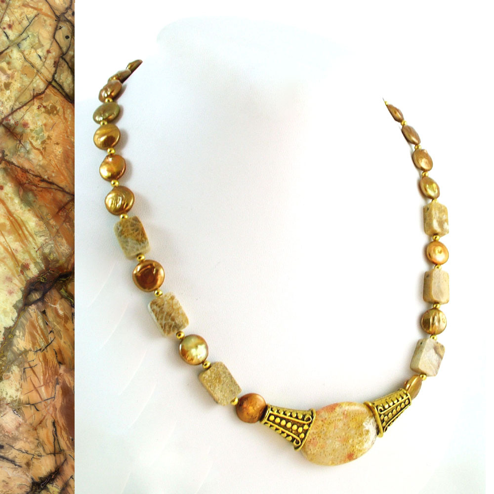 Fossilizedcoralnecklace