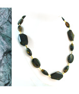 Blue Tiger Eye and Gold Necklace - $75.00