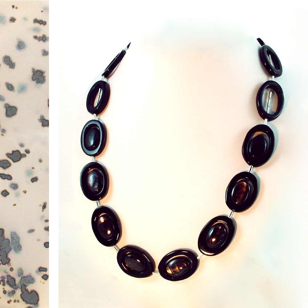 Black Magic Onyx and Hypersthene Necklace