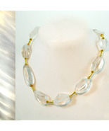 Faceted Rock Crystal Necklace - $65.00