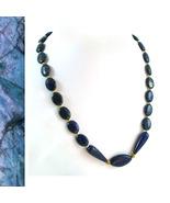 Lapis Lazuli and Vermeil Beaded Necklace - $70.00