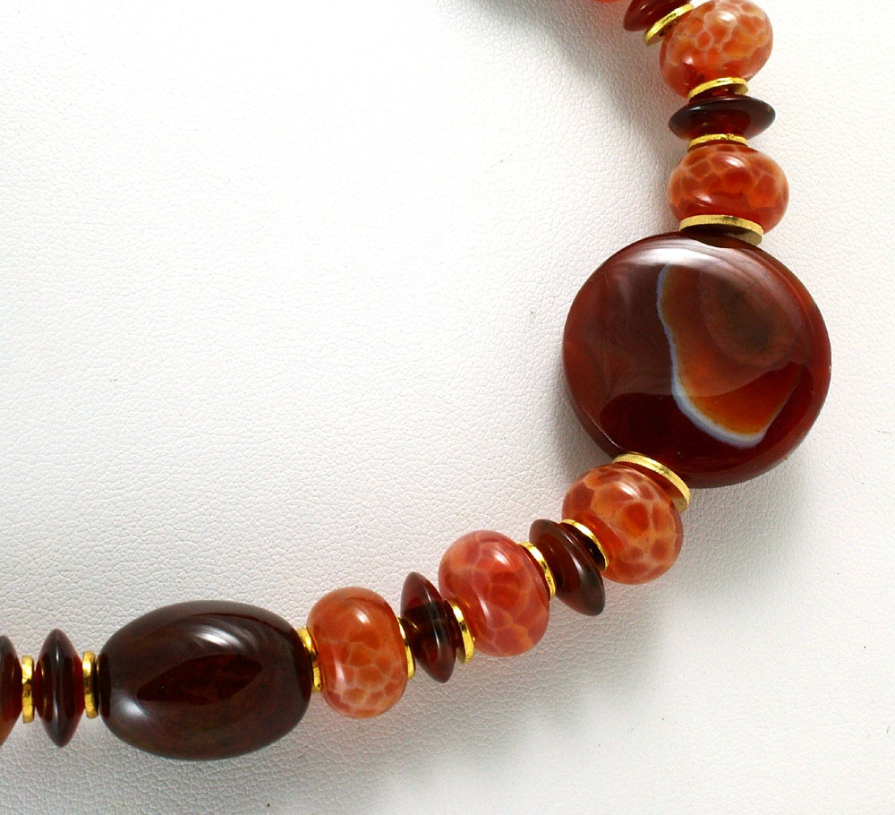 Sardonyx and Agate Necklace