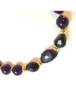 Deep Purple Jade and Amethyst Necklace - $140.00