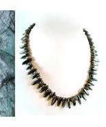 Smoky Pyrite and Jasper Necklace - $50.00