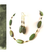 Earthy Green Turquoise and Tiger Eye Necklace - $80.00