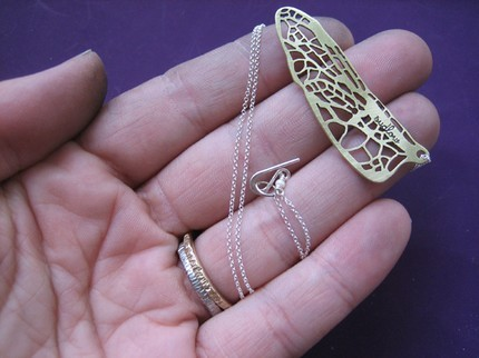 Dragonfly Line Necklace