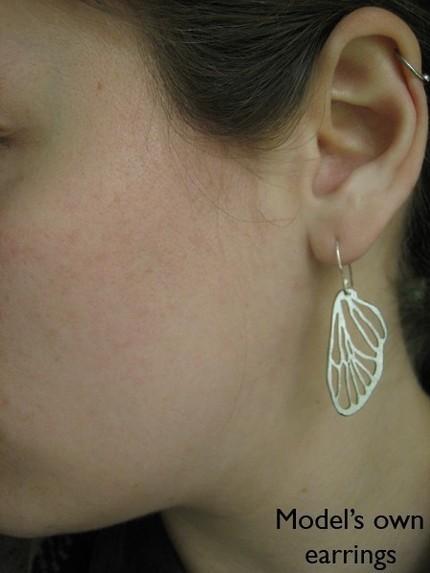 Small Cicada Line Earrings