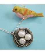 Bird & Nest Necklace - $50.00