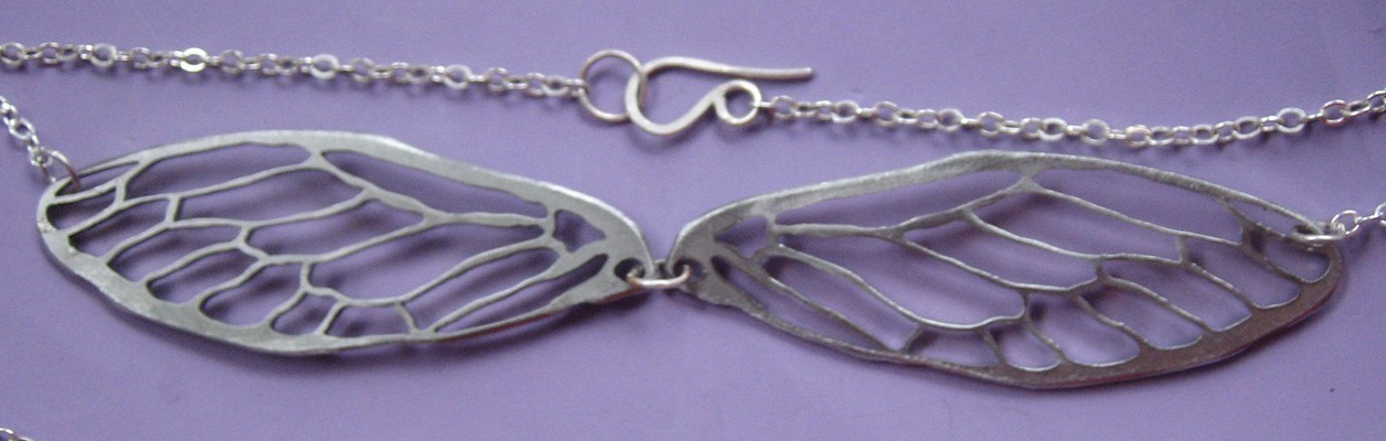 Double Cicada Lines Necklace