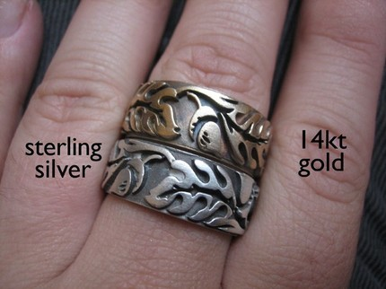 Extra Wide Oak Ring