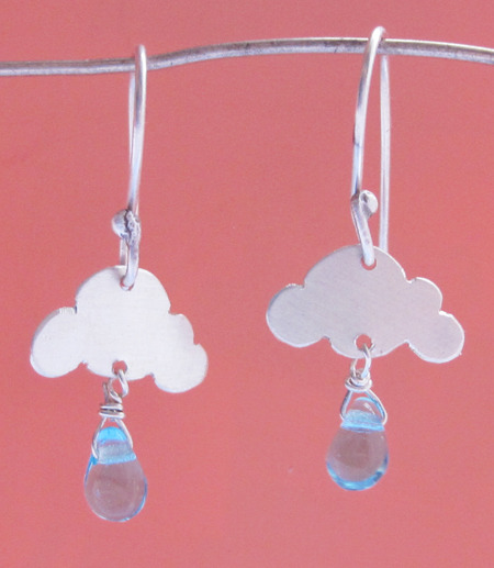 Rainy Day Cloud Earrings