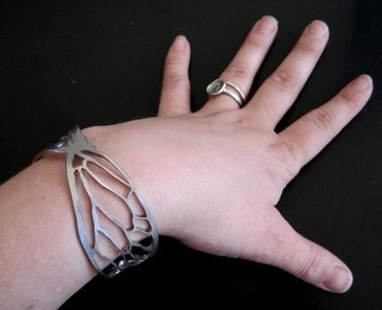 Cicada Line Cuff Bracelet