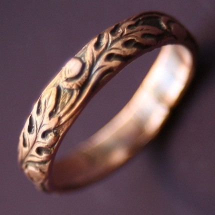 Copper Oak Ring