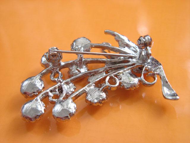 FLORAL ALLOY HANDMADE CRYSTAL BRIDAL COMB BRIDE BROOCH WEDDING ACCESSORIES H01