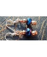 Swarovski Earrings Blue Swarovski Crystal Earri... - $29.00