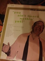 "AL JOLSON - ""YOU AIN'T HEARD NOTHIN' YET!""  - VINYL RECORD LP - $1.97"