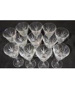 Cristal de Flandre Set of 12 Crystal Wine Glasses Salzburg Pattern  6 7/... - $48.00