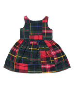 RALPH LAUREN NEW INFANT GIRLS RED BLUE PATCHES COTTON DRESS 9 MONTHS $75 - $19.79